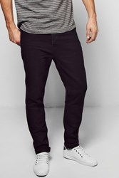 Boohoo Black Slim Fit Rigid Jeans Black Washed Black