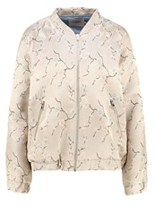 Soaked In Luxury Daphne Bomber Jacket Light Grey