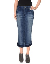 Ottod'ame Denim Denim Skirts Women Blue