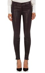 J Brand Women's Leather Mid Rise Jeans Black