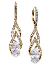 Danori 18K Gold Plated Pave And Cubic Zirconia Drop Earrings Created For Macy's