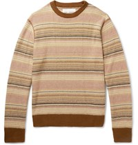 Our Legacy Striped Linen Sweater Brown