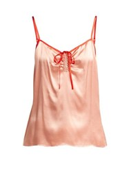 Morgan Lane Serena Silk Satin Cami Top Pink