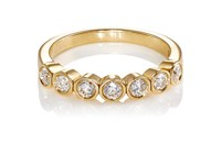 Mcteigue And Mcclelland Women's French Bezel Band Gold