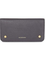 Burberry Leather Phone Wallet Grey