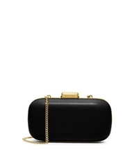 Michael Kors Elsie Leather Dome Clutch Black