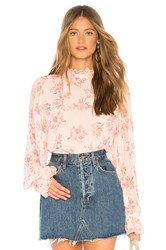 Endless Rose Pleated Ruffle Blouse Pink