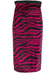 Just Cavalli Scribble Print Skirt Pink