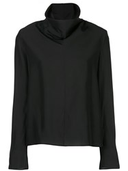 The Row Draped Turtle Neck Sweater Blue