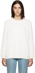 6397 Off White Merino Raglan Sweater