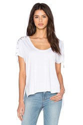 Feel The Piece Trance Scoop Neck Top White