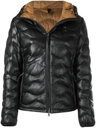 Blauer Quilted Leather Jacket Black
