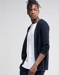 Selected Homme Open Drape Cardigan Dark Saphire Blue
