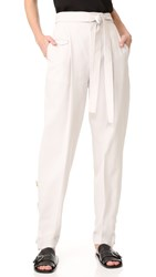 Helmut Lang Loose Fitted Tie Front Trousers Dove