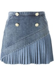 No21 Denim Mini Skirt Blue