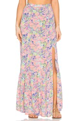 Minkpink Staring At Sunsets Maxi Skirt Pink