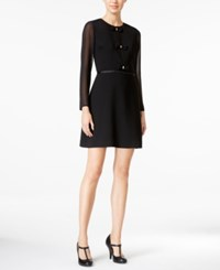 Maison Jules Samantha Bow Detail Dress Only At Macy's Deep Black