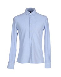 Fedeli Shirts Shirts Men Sky Blue