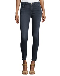 7 For All Mankind High Waist Ankle Skinny Jeans Bastille