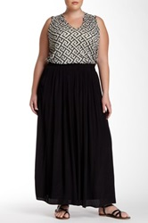 Joan Vass Maxi Skirt Plus Size Black