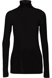 Enza Costa Stretch Jersey Turtleneck Sweater