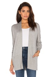Vince Open Front Cardigan Gray