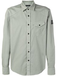 Belstaff Angled Pocket Shirt Green