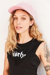 The Style Club Suede Baseball Hat Pink