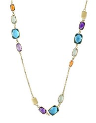 Effy Mosaic Amethyst Topaz Citrine And 14K Yellow Gold Necklace