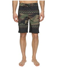 Vans Mixed Scallop Boardshorts Peace Leaf Camo Men's Swimwear Black