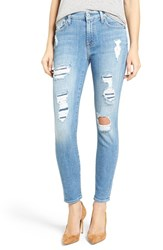 7 For All Mankindr Women's Mankind Embellished And Destroyed Ankle Skinny Jeans