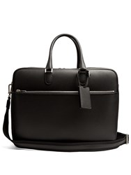 Valextra Grained Leather Holdall Black
