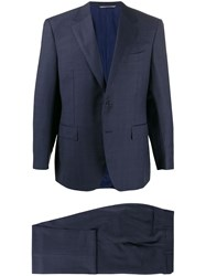 Canali Slim Fit Single Breasted Suit Blue
