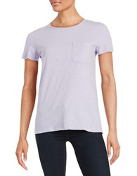Lord And Taylor Crewneck Pocket Tee African Violet