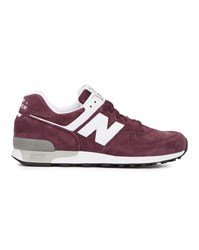 New Balance Bordeaux Suede 576 Trainers Burgundy