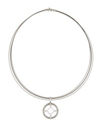 Alor Spring Coil Cable And Diamond Pendant Necklace