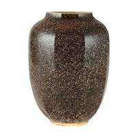Aerin Geo Tall Vase Pebble Brown Gold
