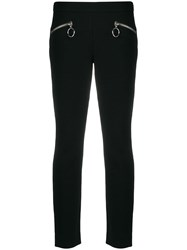 Moschino Zipped Slim Fit Trousers Black