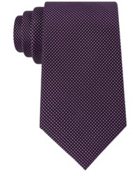 Tommy Hilfiger Men's Textured Micro Dot Tie Plum