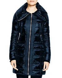 Bcbgmaxazria Long Quilted Coat Sapphire
