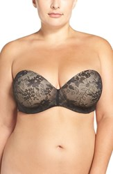 Curvy Couture Plus Size Women's Strapless Underwire Push Up Bra