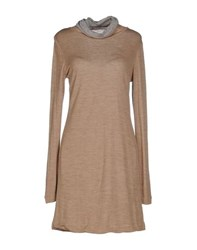 Tela Dresses Short Dresses Women Camel