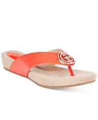Giani Bernini Racchel Flip Flop Sandals Only At Macy's Women's Shoes New Coral