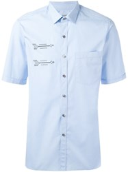 Lanvin Embroidered Arrow Shirt Blue