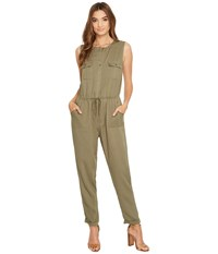 Brigitte Bailey Ashton Sleeveless Button Up Jumpsuit Olive Women's Jumpsuit And Rompers One Piece
