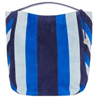 Karen Millen Stripe Sling Shoulder Bag Blue