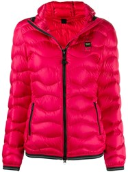 Blauer Hooded Puffer Jacket Red