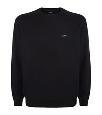 Armani Jeans Logo Cotton Sweater Male Black