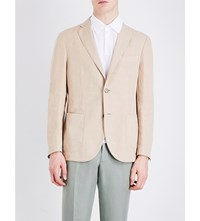 Slowear Single Breasted Linen And Cotton Blend Blazer Sand