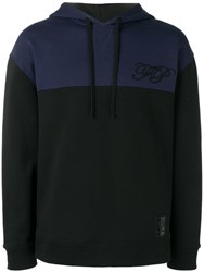 Fred Perry Raf Simons X Two Tone Hoodie Black